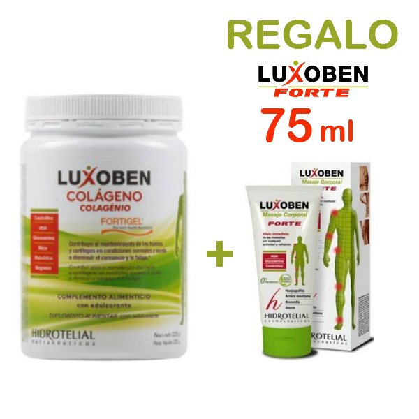 LUXOBEN COLAGENO 225 GR + REGALO LUXOBEN FORTE 75 ML